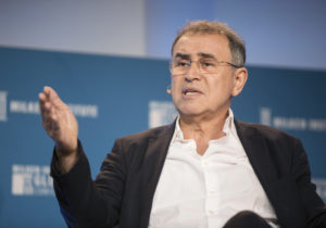 Roubini Vs. Crypto, Round Two: This Time at a Blockchain Summit