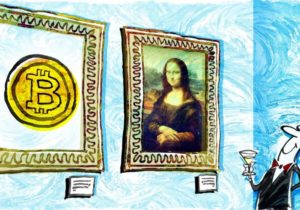 Buying art with bitcoin, authenticating it with blockchain