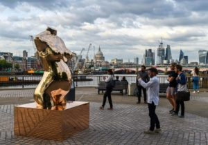 London Hosts World's First Public Crypto Sculpture