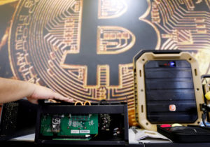 Bitcoin drops to one-year low as slump persists; ethereum down sharply