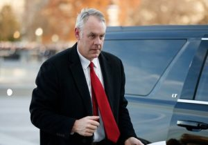 "Ryan Zinke says he's now trying to make a cryptocurrency company ""great again"""