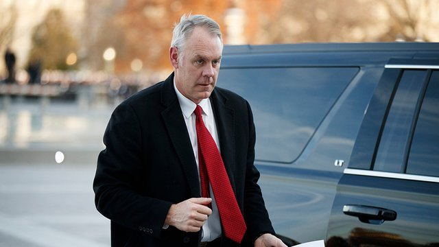 """Ryan Zinke says he's now trying to make a cryptocurrency company """"great again"""""""