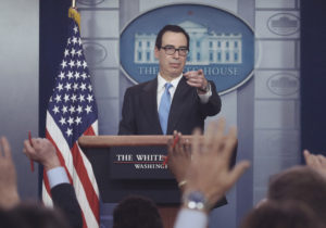 Bitcoin Falls; Mnuchin Says U.S. Likely to Issue New Rules on Crypto