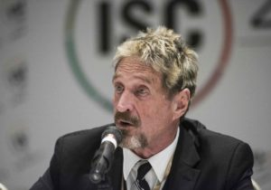 McAfee Explains 'Rationale' For Why He Still Sees $1 Million Bitcoin By 2020